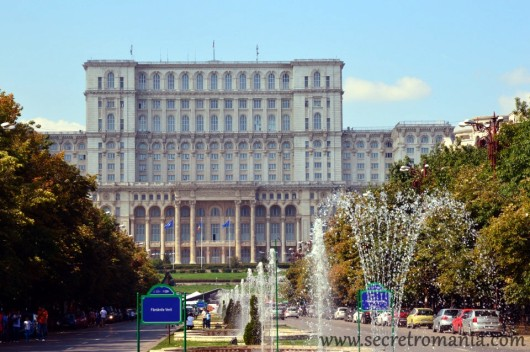 Parliament palace in Bucharest built by Ceausescu
