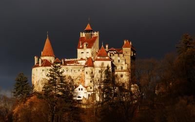 Bran castle night
