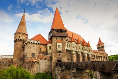 Corvinilor castle in Romania