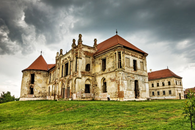 Haunted Bontida castle near Cluj