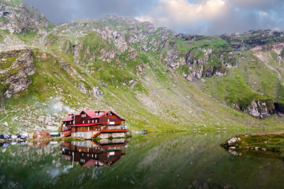 Balea lac on Transfagarasan