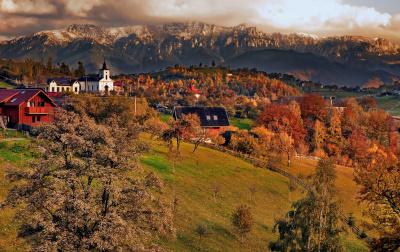 Scenic road in Transylvania