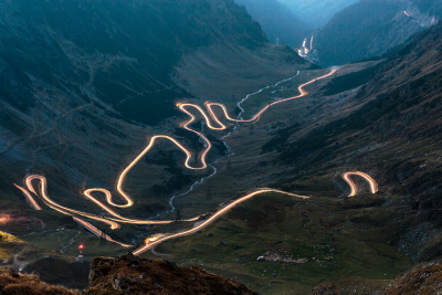 Transfagarasan by night