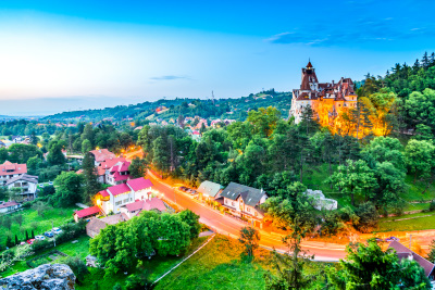 Bran castle in the sunset