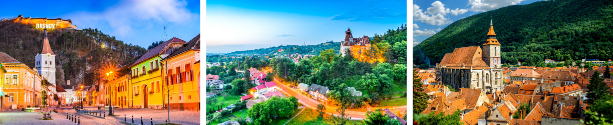 Bran castle, Rasnov citadel and Brasov city tour