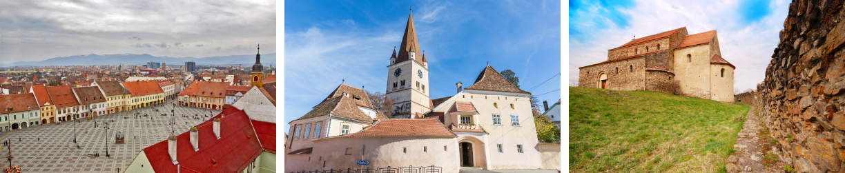 Sibiu city tour, Cisnadie fortified church and Cisnadioara citadel