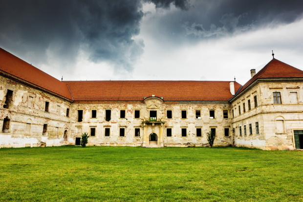 Haunted castle in Transylvania